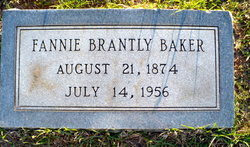 Fannie Catherine <i>Brantly</i> Baker