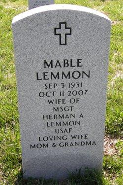 Mable Myra <i>Stevens</i> Lemmon