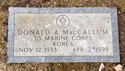 Donald A MacCallum