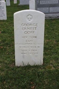 Capt George Ernest Goff