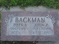 Albin E Backman