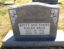 Betty Ann <i>Evans</i> Balis
