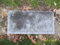 Martha <i>Huffman</i> Deckard