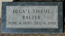 Olga Louise Thieme <i>Matson</i> Balzer