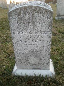 Johanna Rebecca Ann Annie <i>Hildebrand</i> Hussey