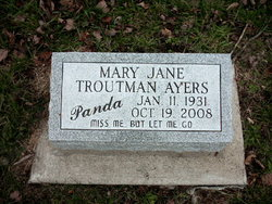 Mary Jane <i>Troutman</i> Ayres