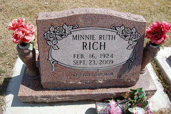 Minnie Ruth <i>Pennington</i> Rich