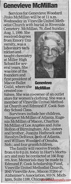 Genevieve <i>Woodard</i> McMillan