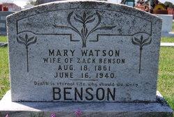 Mary <i>Watson</i> Benson