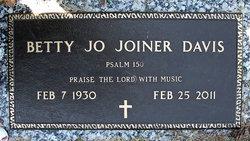 Betty Jo <i>Joiner</i> Davis