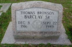 Thomas Bronson Barclay, Sr.