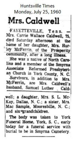 Carrie L. <i>Wallace</i> Caldwell