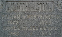 Annie E. <i>Miller</i> Worthington