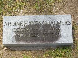 Ardine <i>Hayes</i> Chalmers