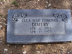 Ella Mae <i>Edmonds</i> Dimery