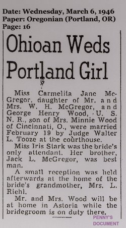 Carmelita Jane <i>McGregor</i> Haack