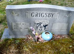 Ollie Mae <i>Stacy</i> Grigsby