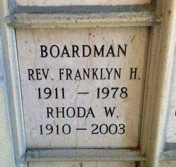 Rev Franklyn H Boardman