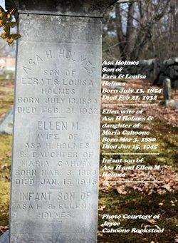 Ellen Maria <i>Cahoone</i> Holmes