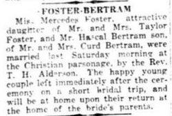 Mercedes <i>Foster</i> Bertram