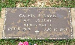 Calvin F Davis