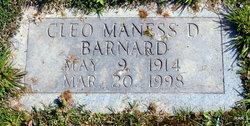 Cleo <i>Maness</i> Barnard