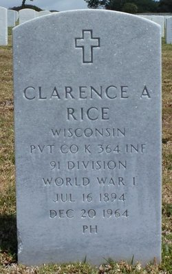 Clarence A Rice