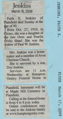 Faith E <i>Shaul</i> Jenkins
