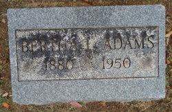 Bertha I. Adams