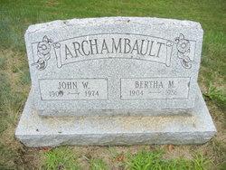 Bertha May <i>Lafontaine</i> Archambault