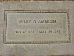 Wiley Dismukes Ambrose