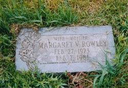 Margaret V Maggie <i>Cummings</i> Rowley