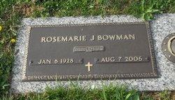 Rosemarie J. <i>Hagerman</i> Bowman