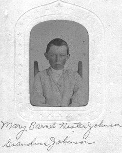 Mary Barnett <i>Hester</i> Johnson