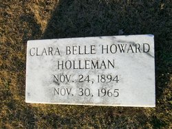 Clara Belle <i>Howard</i> Holleman