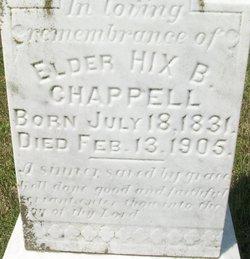 Rev Hix Benjamin Chappell