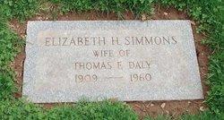 Elizabeth H <i>Simmons</i> Daly