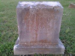 Winnie Anna <i>Cramer</i> Hudson