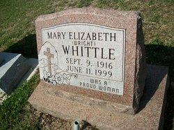 Mary Elizabeth <i>Wright</i> Whittle