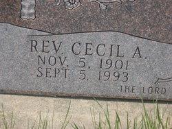 Rev Cecil A Plank