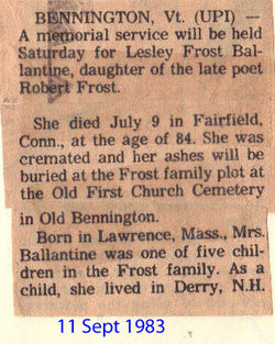 Lesley <i>Frost</i> Ballantine