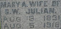 Mary A. <i>Hughes</i> Julian