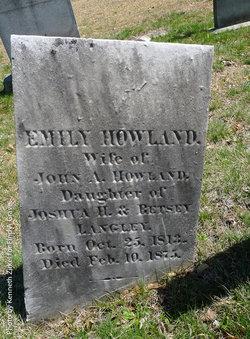 Emily <i>Langley</i> Howland