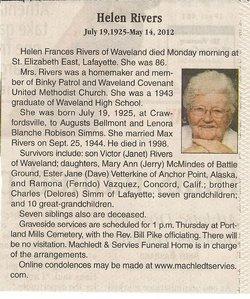Helen Frances <i>Simms</i> Rivers
