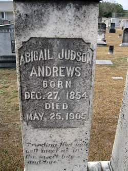 Abigail Judson <i>Michaux</i> Andrews