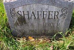 Edith M <i>Faller</i> Shaffer