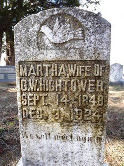 Martha Mattie <i>Brooks</i> Hightower