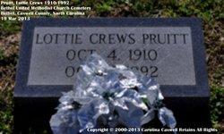 Lottie Mae <i>Crews</i> Pruitt