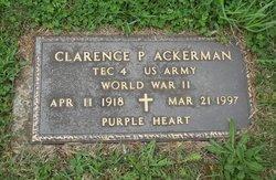Clarence P Ackerman