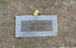 Mary Angeline <i>Hayden</i> Burgess